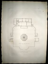 Vitruvius Britannicus C1720 Architectural Plan. Buckingham House Palace, London